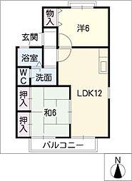 オークレール 1[2階]の間取り