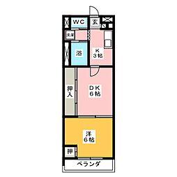 高蔵ビレッジ[2階]の間取り