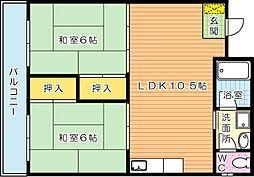 グリーンハイツ鷹ノ巣[2階]の間取り