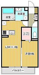 (仮称)平泉東3丁目マンションA棟 1階1LDKの間取り