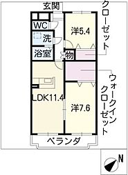 キアーヴェ[2階]の間取り