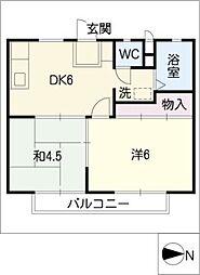 代田ドミール[1階]の間取り