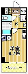 レジデンス福島2[4階]の間取り