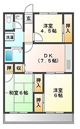 メゾンサプリーム[8階]の間取り