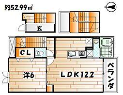 フレシール黒崎[3階]の間取り