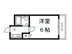 京都府京都市東山区今熊野総山町の賃貸マンションの間取り