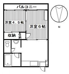 ひいらぎマンションNO.3[3階]の間取り