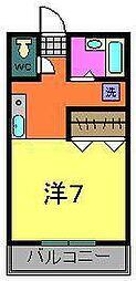 メゾンA(黒砂台)[203号室]の間取り