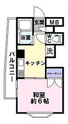 ルミナス神戸[5階]の間取り