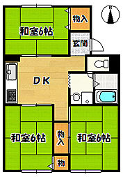 シャルム藤原台[1階]の間取り