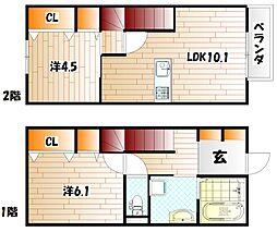 仮)D-room企救丘[102号室]の間取り