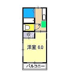 アゼリア塩屋崎[3階]の間取り