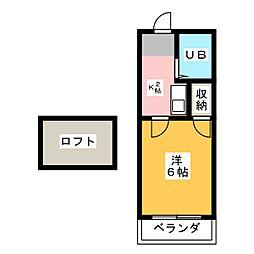 プレジオ本笠寺[1階]の間取り