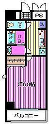 ブランシェオオミヤ[7階]の間取り