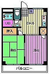 埼玉県川口市栄町2丁目の賃貸マンションの間取り