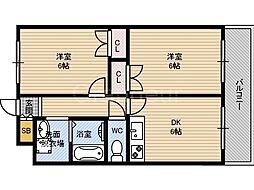 M'PLAZA城東六番館[6階]の間取り