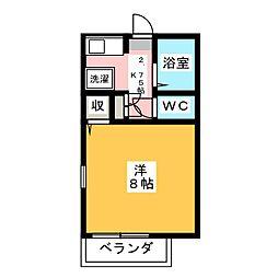 セジュール姫子[2階]の間取り