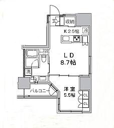 東京都台東区雷門1丁目の賃貸マンションの間取り
