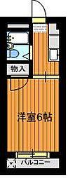 リバーサイド成栄・南[3階]の間取り