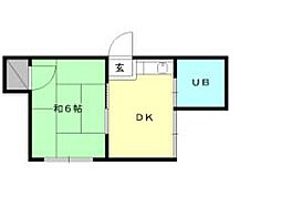第8三和マンション[102 号室号室]の間取り
