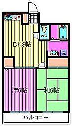 平田マンション[306号室]の間取り