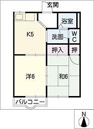 藤フレグランス[2階]の間取り