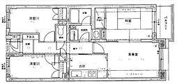 ライオンズマンション与野本町第2[4階]の間取り