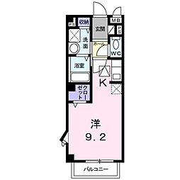 ミニヨンハウス[205 号室号室]の間取り