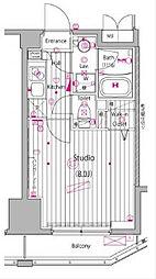 JR京浜東北・根岸線 関内駅 徒歩5分の賃貸マンション 6階1Kの間取り