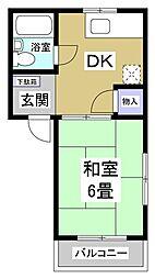 コーポ小倉[2階]の間取り