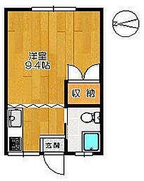 八戸コーポ[201号室]の間取り