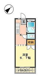 愛知県日進市竹の山1丁目の賃貸マンションの間取り