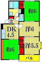 埼玉県川口市戸塚1丁目の賃貸アパートの間取り