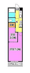 メゾンドELLE V (メゾンドエルファイブ)[3階]の間取り