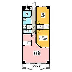 ウェルフェア(WELFARE)[4階]の間取り