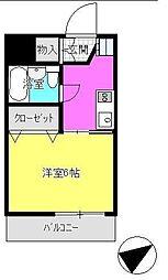 東京都町田市小山町の賃貸マンションの間取り