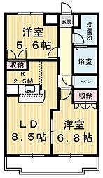 エスポアールSIII[2階]の間取り