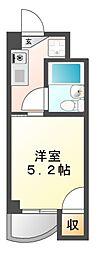露橋ロイヤルハイツII[2階]の間取り