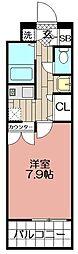 エンクレスト天神(602)[602号室]の間取り