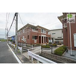 岡山県岡山市中区沢田の賃貸アパートの外観
