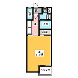 ブルーファイター21[3階]の間取り
