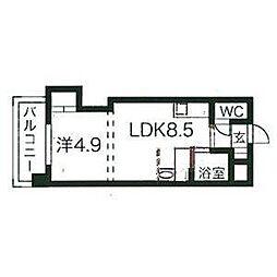 コメンスNo.1[3階]の間取り