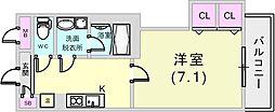 兵庫県神戸市灘区大石南町1丁目の賃貸マンションの間取り