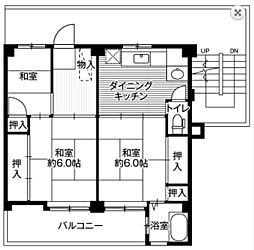 神奈川県横浜市保土ケ谷区常盤台の賃貸マンションの間取り