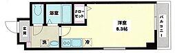 小田急小田原線 海老名駅 徒歩12分の賃貸マンション 3階ワンルームの間取り