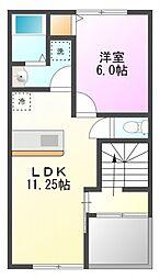 レガーロ E棟[2階]の間取り