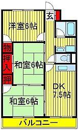 第2パークマンション西原[201号室]の間取り