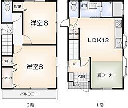 [一戸建] 徳島県徳島市昭和町8丁目 の賃貸【/】の間取り