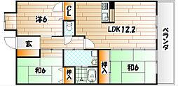 アプローズ戸畑駅前参番館[7階]の間取り