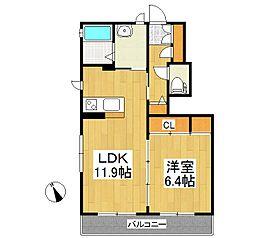 ラ・セゾン II[1階]の間取り